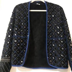 Anthropologie Blank London Embellished Blazer
